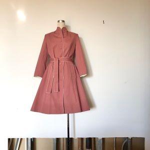 Rain Shedder - Vintage Pink Mandarin Rain Jacket